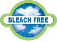Logo representing a bleach free product